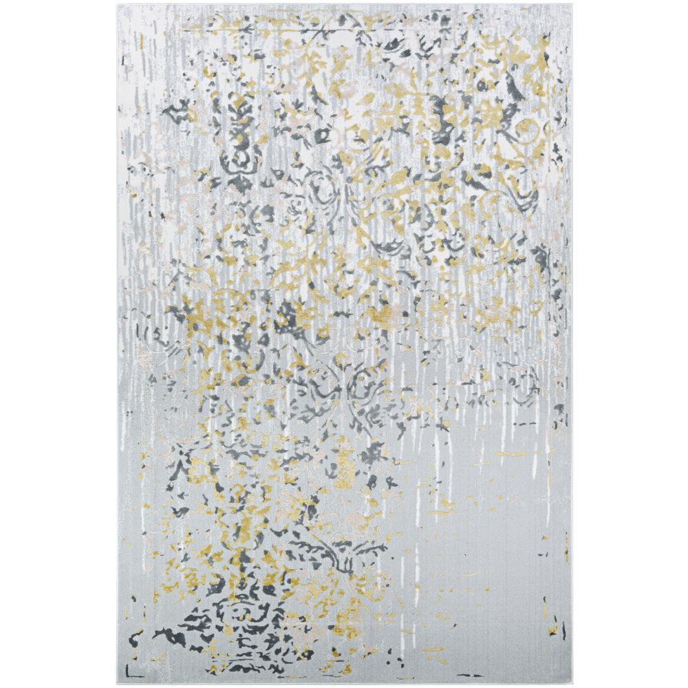 Calinda Emmett Gold-Silver-Ivory 9 ft. x 12 ft. Area Rug