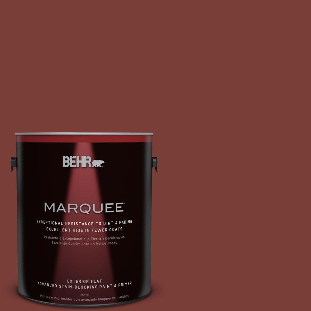 BEHR MARQUEE 1-gal. #ECC-36-3 Red Bluff Flat Exterior Paint