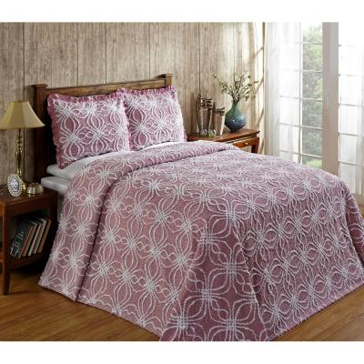 Rosa 102 in. x 110 in. Pink Queen Bedspread