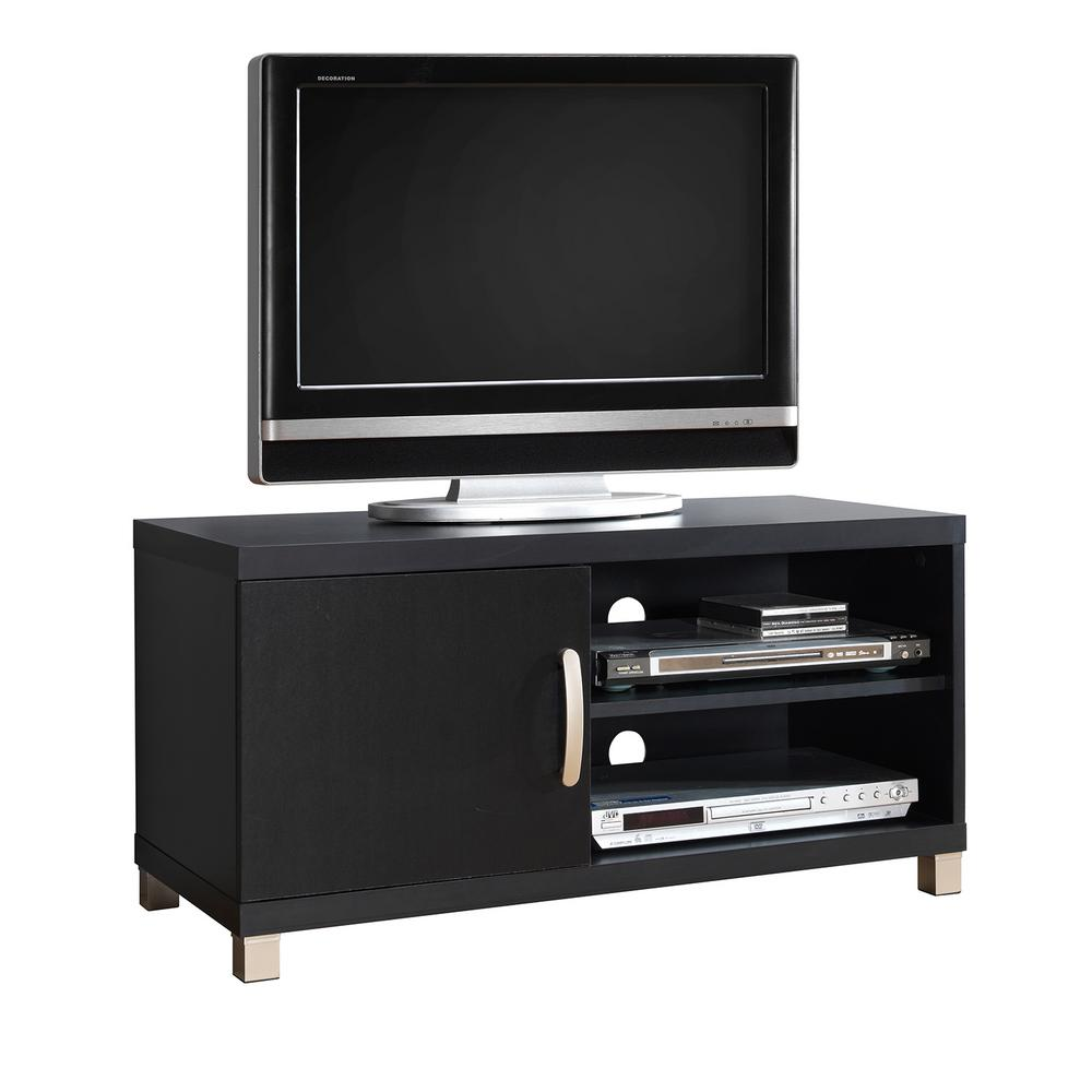 Techni Mobili Black Modern TV Stand With Storage For TVs Up To 40 In.