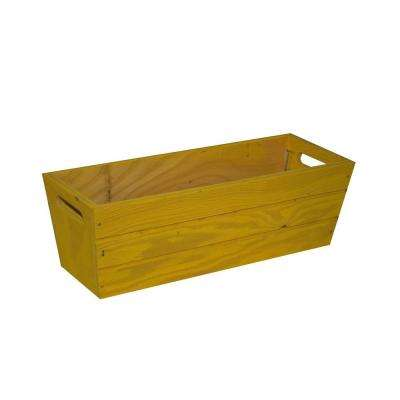 16 in. Patio Wood Planter in Yellow