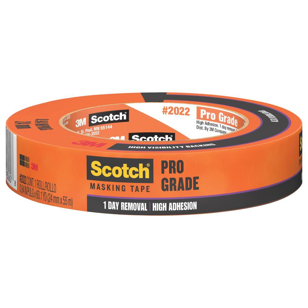 3M Scotch 0.94 in. x 60.1 yds. Pro Grade Masking Tape (Case of 36)