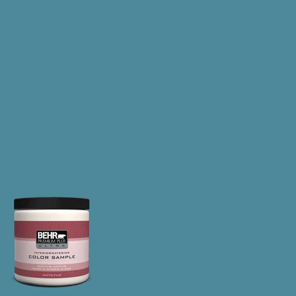 8 oz. #S460-5 Blue Square Interior/Exterior Paint Sample