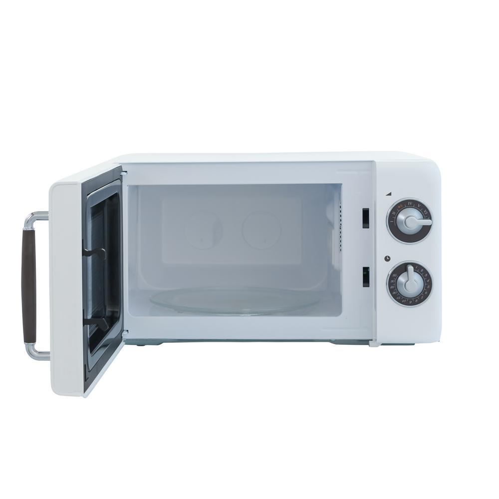 Retro 0.7 cu. ft. Countertop Microwave in White
