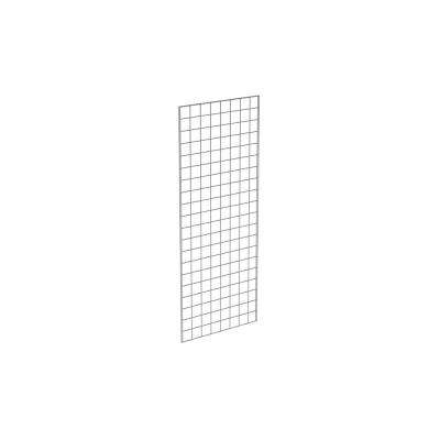 60 in. H x 24 in. W Chrome Metal Grid Wall Panel Set (3-Pack)