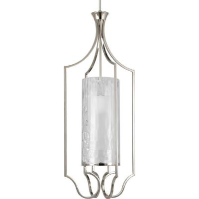 Caress Collection 1-Light Polished Nickel Foyer Pendant