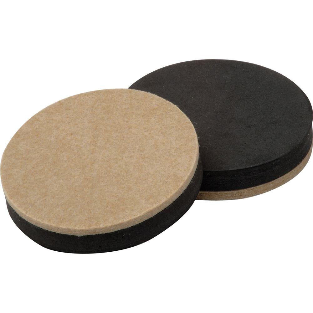 Shepherd 3 1 2 In Heavy Duty Felt Slider Pads 4 Per Pack 9407h The Home Depot