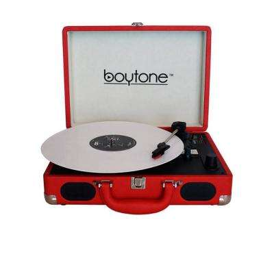 Exclusive Mobile Bluetooth Briefcase Turntable, Red