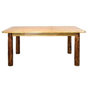 Glacier Country Stained and Lacquered Skirted Dining Table