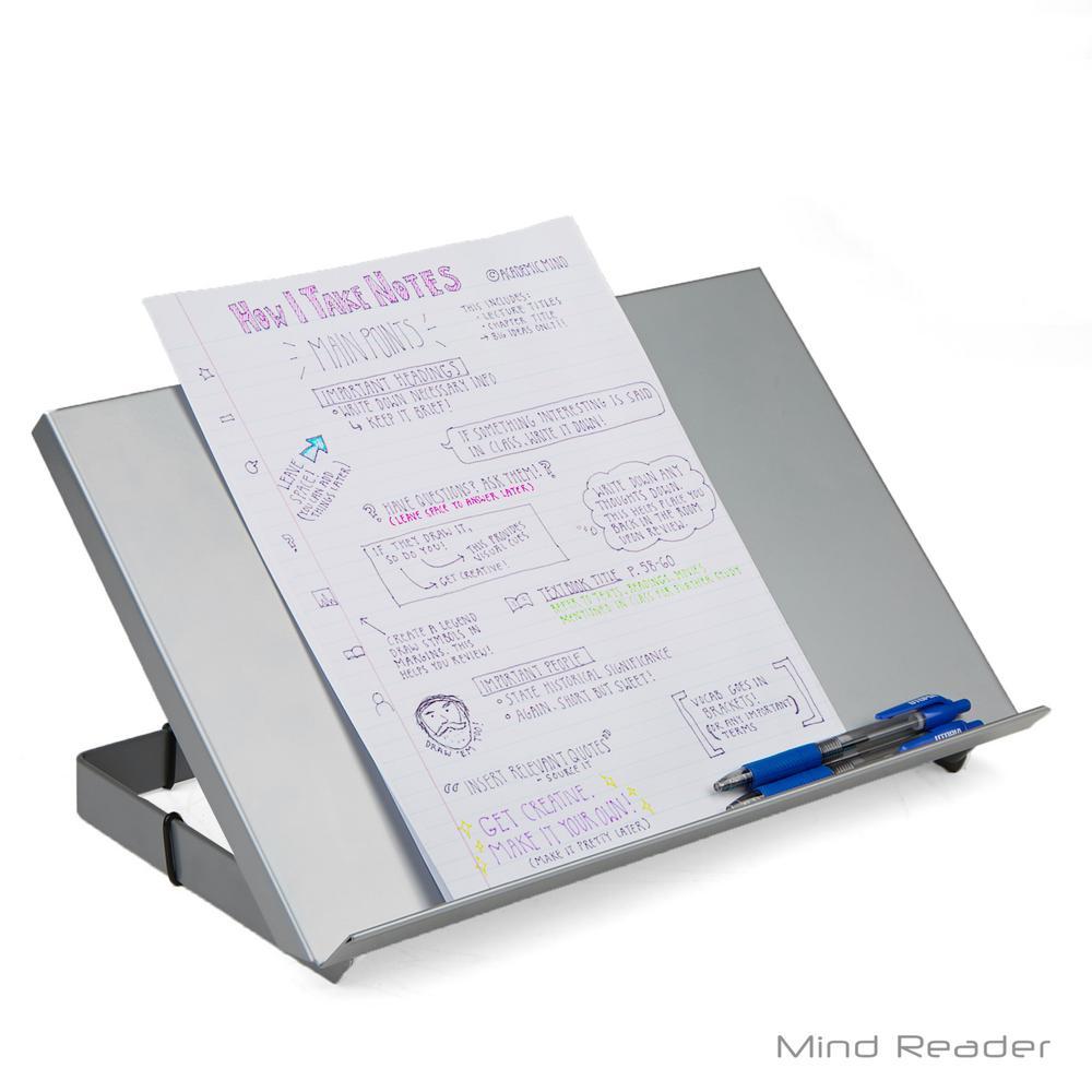 Metal Resting Document Holder Easel, Silver
