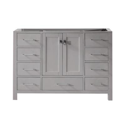 Caroline Avenue 48 in. W Bath Vanity Cabinet Only in Cashmere Gray