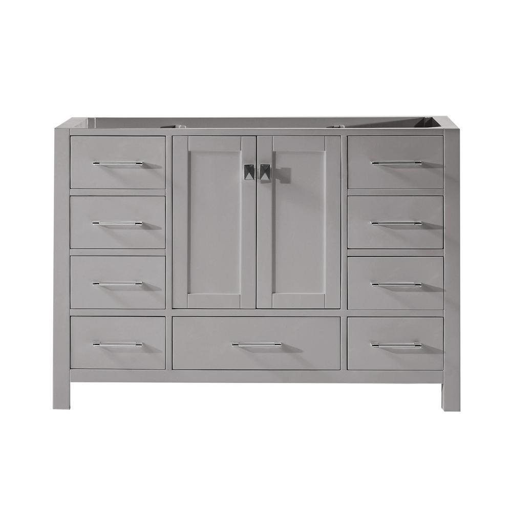 Virtu USA Caroline Avenue 48 in. W Bath Vanity Cabinet Only in Cashmere Gray