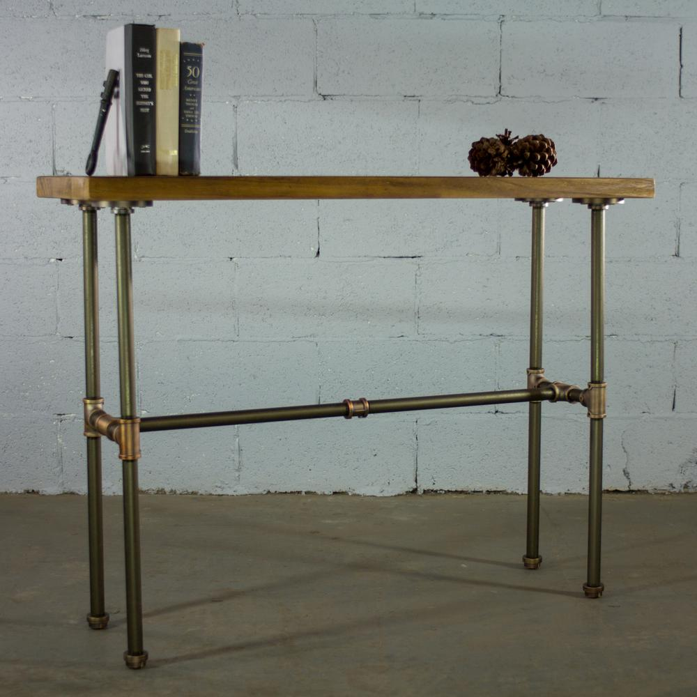 Corvallis Industrial, Brown Pipe Entryway/Console/Sofa/Hall