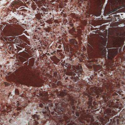 Rosso Levanto 12 In.x 12 In. Polished Marble Floor And Wall Tile (