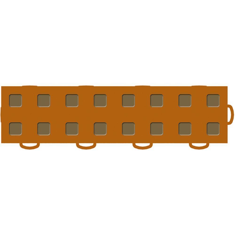 WeatherTech TechFloor 3 in. x 12 in. Terracotta/Medium Brown Vinyl Flooring Tiles (Right Loop) (Quantity of 10)