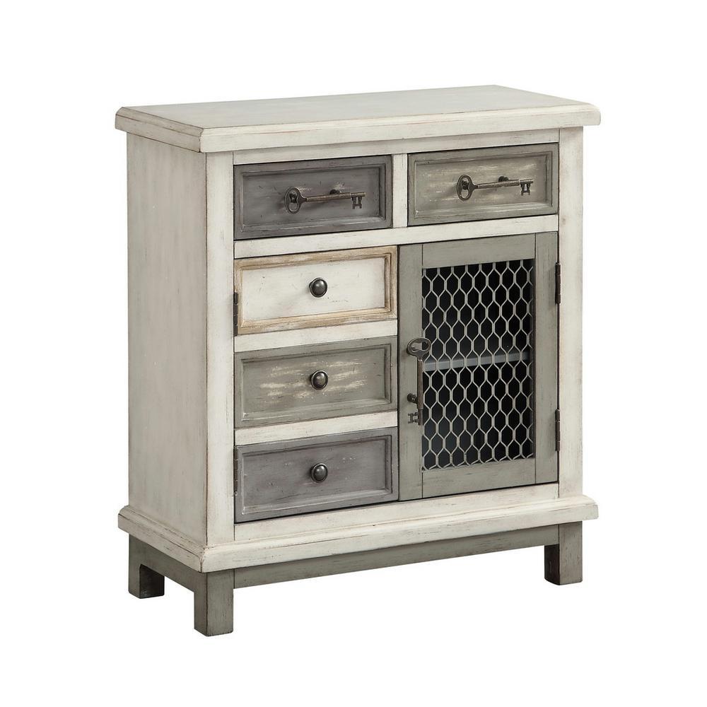Keystone Multicolor 2-Door 2-Drawer Cabinet