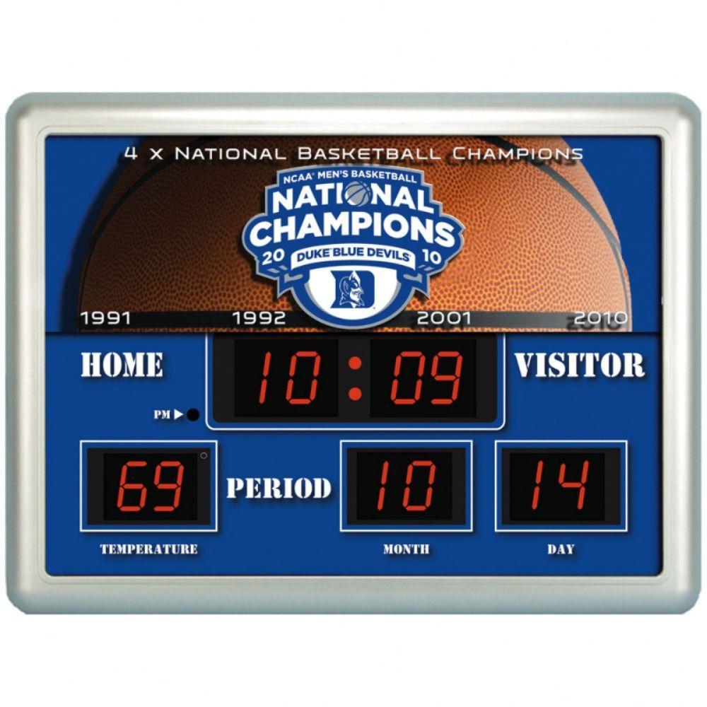 null Duke University 14 in. x 19 in. Scoreboard Clock with Temperature