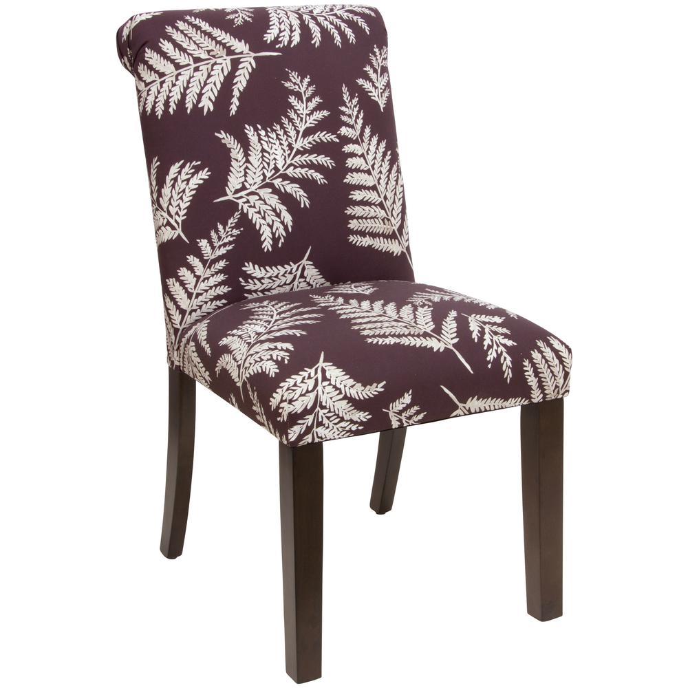Skyline Furniture Fern Plum Rolled Back Dining Chair