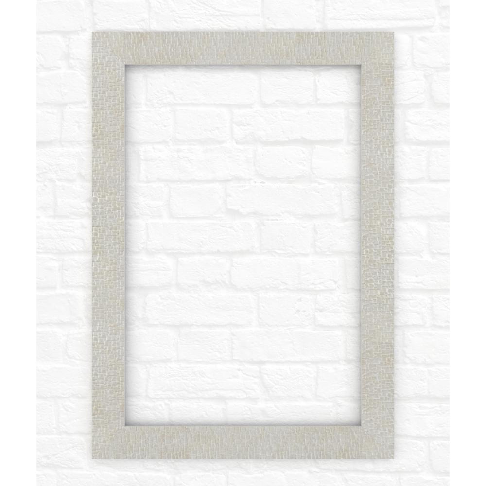 29 in. x 41 in. (M3) Rectangular Mirror Frame in Stone Mosaic