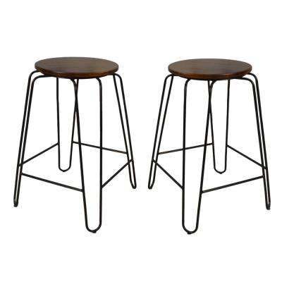 Ethan 24 in. Elm Stacking Stool (Set of 2)