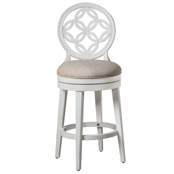 Hillsdale Furniture Savona 26 in. White Counter Stool 5851-828