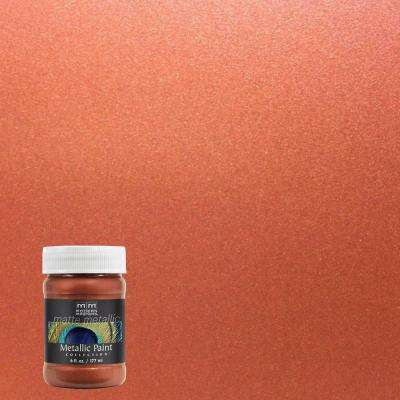 Matte Finish Paint >> 6 Oz Copper Water Based Matte Metallic Interior Paint