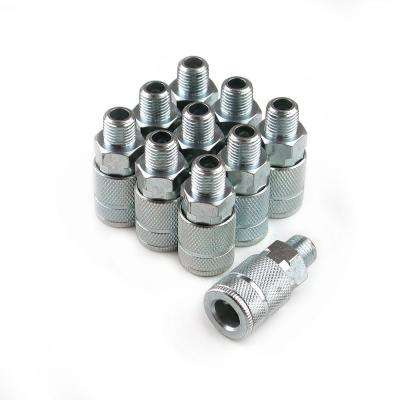 10-Piece 1/4 in. Steel 4-Ball Male Automotive Coupler