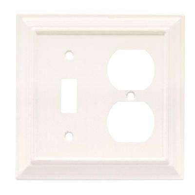 Architectural Wood Decorative Switch and Duplex Outlet Cover, White