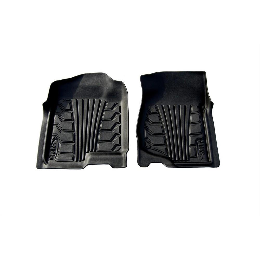Set of 2 Lund 283047-B Catch-It Vinyl Black Front Seat Floor Mat