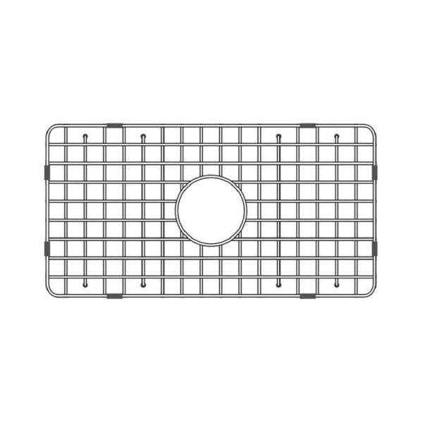 24.62 in. Fireclay Grid for Undermount Single Bowl Sink in Stainless Steel