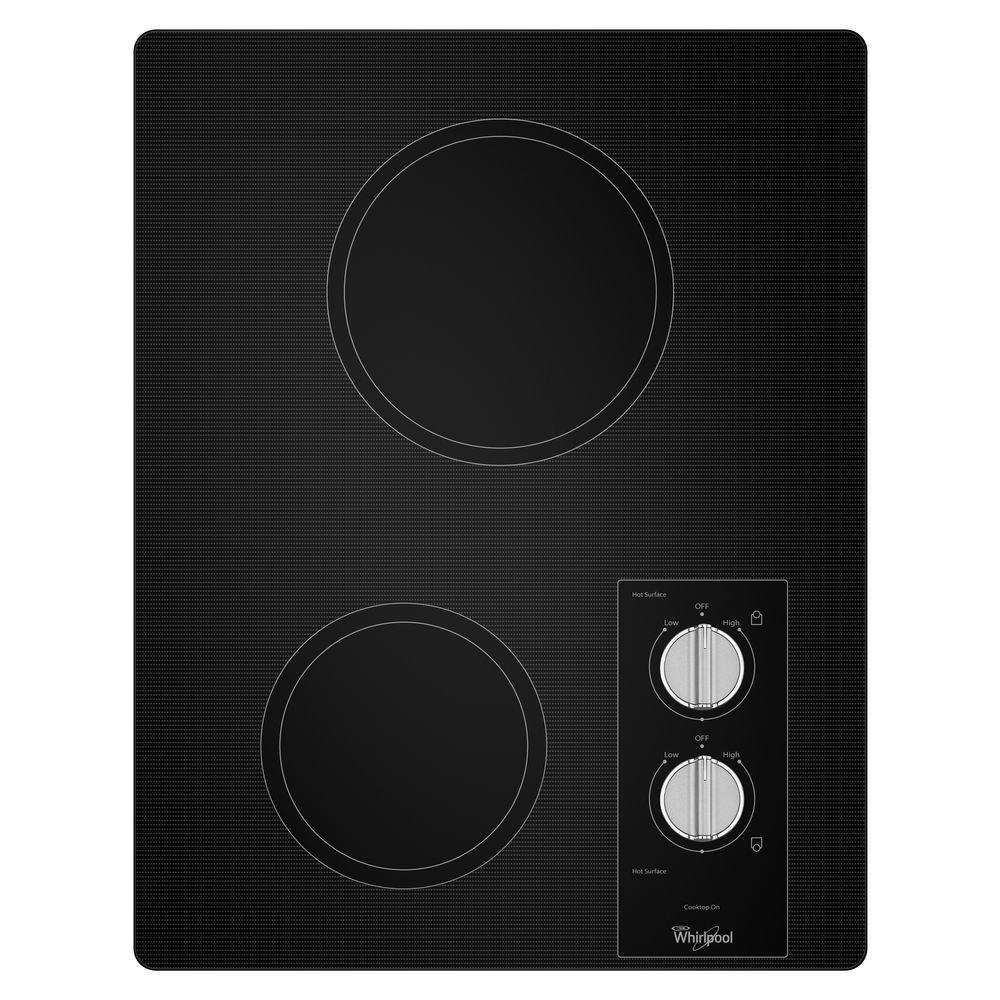 Whirlpool 15 in. Ceramic Glass Electric Cooktop in Black ...