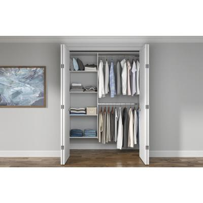 36 in. W - 60 in. W White Wood Closet System
