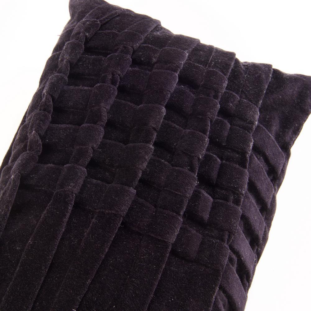 American Colors Black Pintuck Velvet Pillow