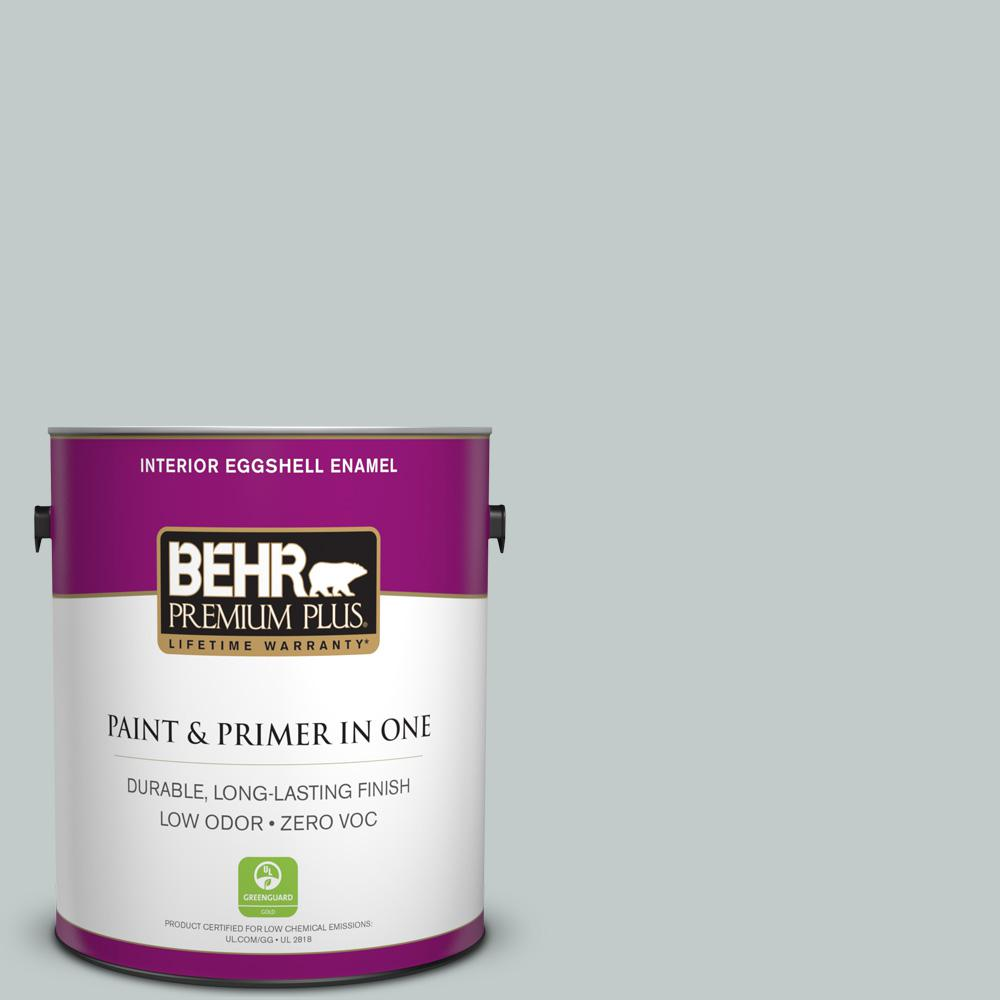 BEHR Premium Plus 1-gal. #730E-3 River Rock Zero VOC Eggshell Enamel Interior Paint