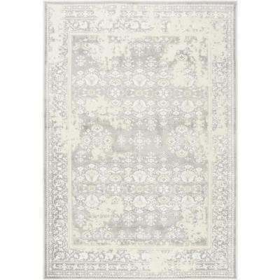 Infinity Gray 3 ft. x 4 ft. Indoor Area Rug