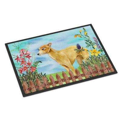 18 in. x 27 in. Indoor/Outdoor Italian Greyhound Spring Door Mat