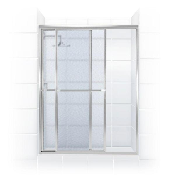Coastal Shower Doors Paragon 44 In To 45 5 In X 66 In Framed Sliding Shower Door With Towel Bar In Chrome And Obscure Glass 1844 66b A The Home Depot