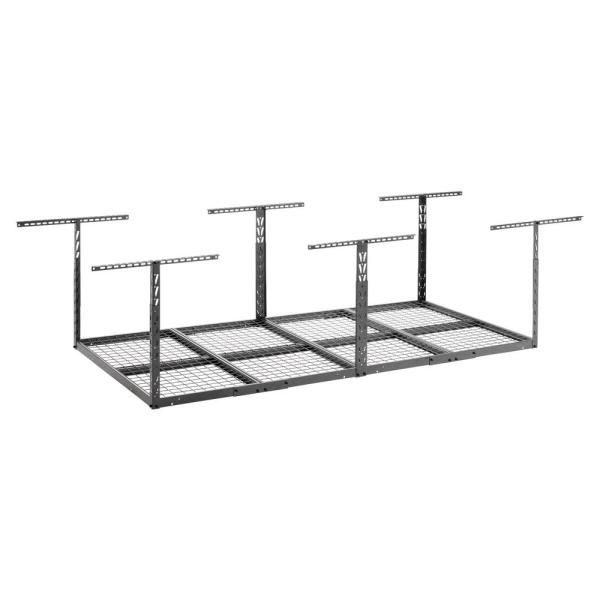 GearLoft 48 in. W x 23-37 in. H x 96 in. L Overhead Garage Storage Rack in Hammered Granite
