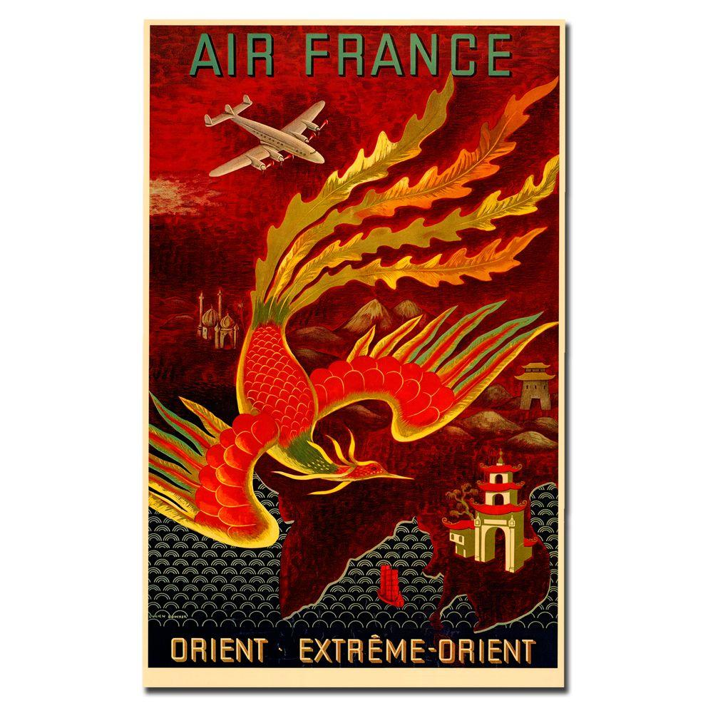 35 in. x 47 in. Air France Orient Extreme Canvas Art