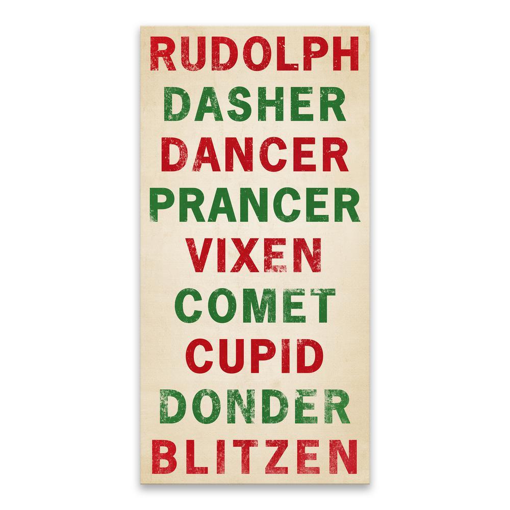 """""""Reindeer Names"""" by Lot26 Studio Wood Wall Art"""