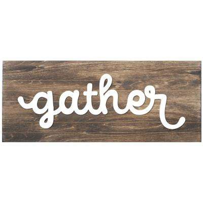 Gather Slat Board, BROWN/WHITE LETTERS, Memo Board