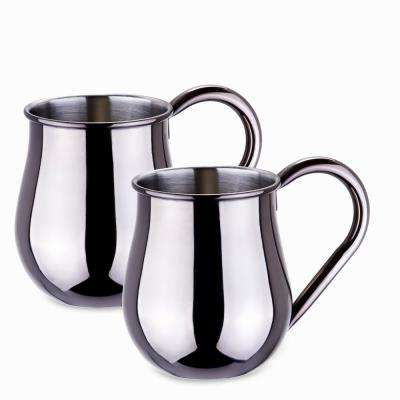 16 oz. Gunmetal Mule Mugs (Set of 2)