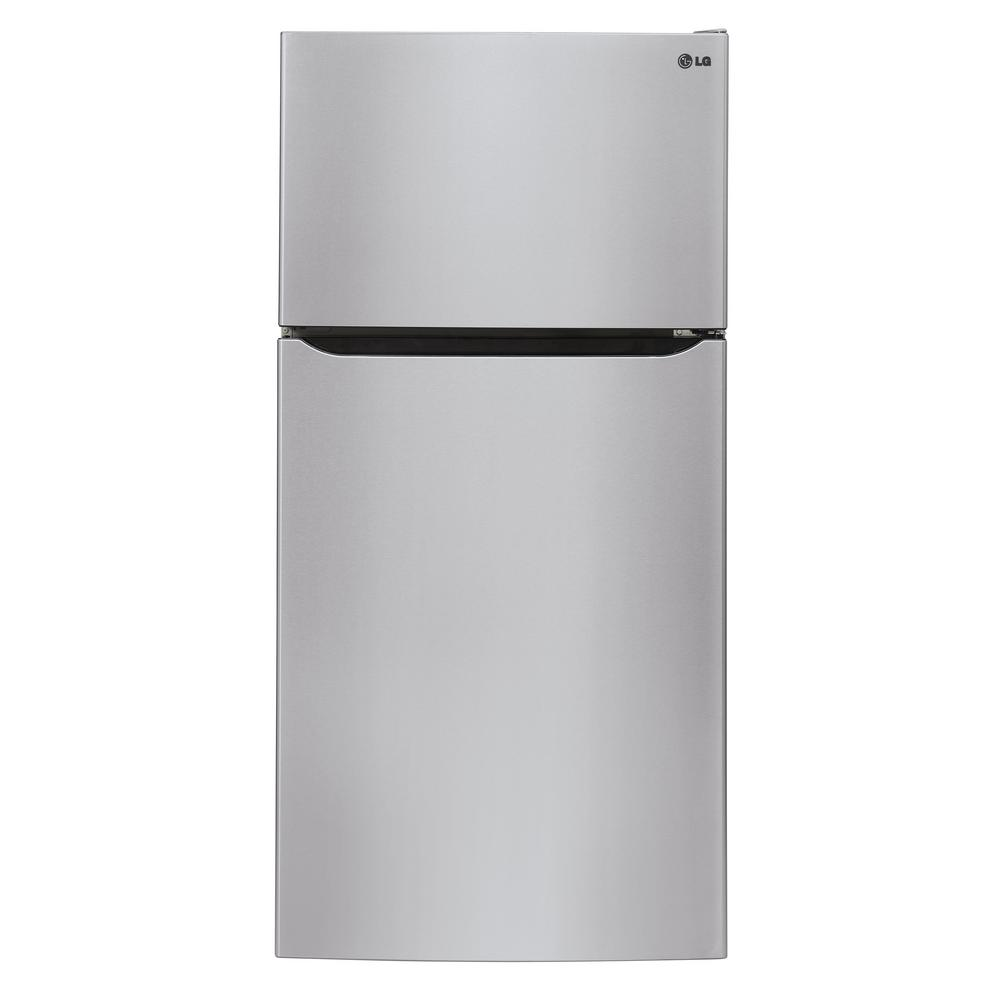 LG Electronics 23.80 cu. ft. Top Freezer Refrigerator in Stainless Steel, Silver LG Electronics 23.80 cu. ft. Top Freezer Refrigerator in Stainless Steel, Silver