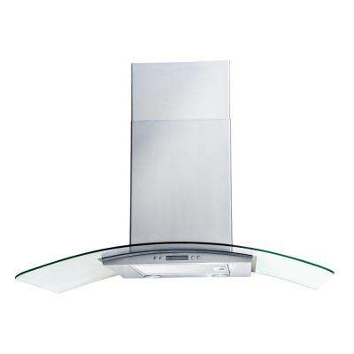 Dekor Glass 36 in. Wall Mount Decorative Range Hood in Stainless Steel