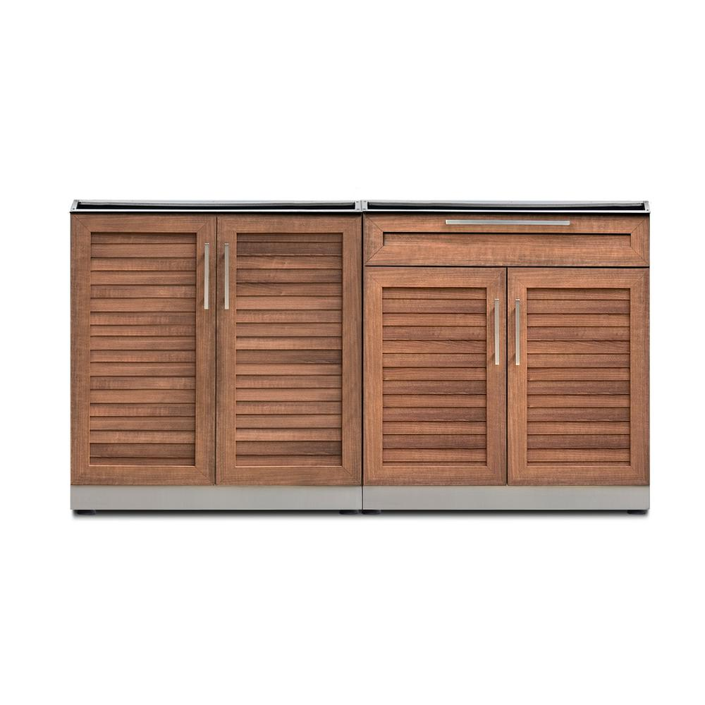 Natural Cherry 2-Piece 64 in. W x 36.5 in. H x