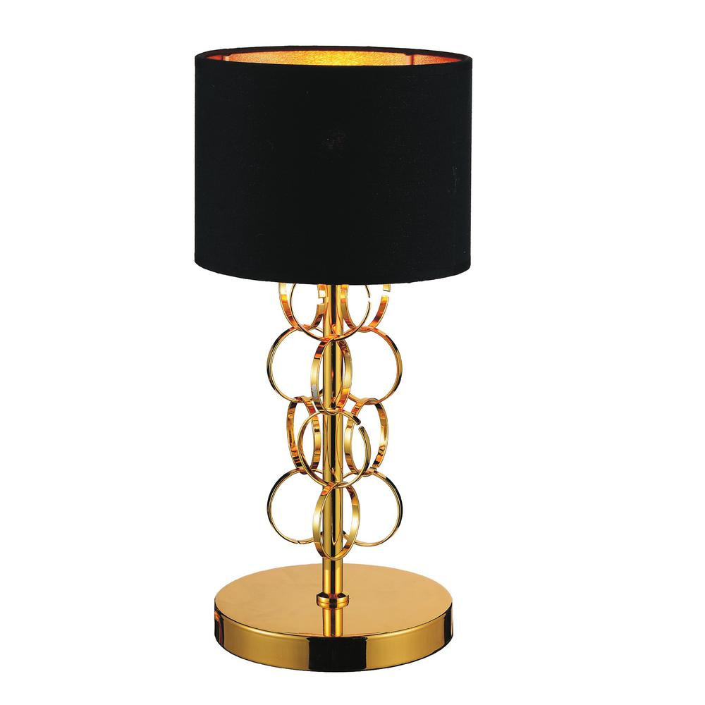 Gold Table Lamp With Black Shade