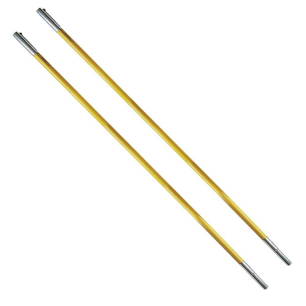 FG 6 ft. Fiberglass Extension Pole for Tree Pruner or Saw (2-Pack)