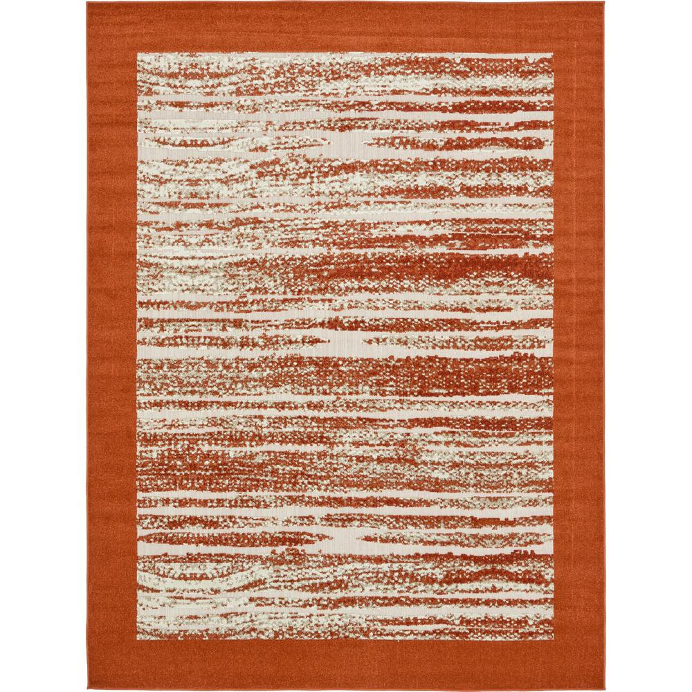 Uniquely Modern Rugs: Unique Loom Outdoor Modern Terracotta 8' X 10' Rug-3132589