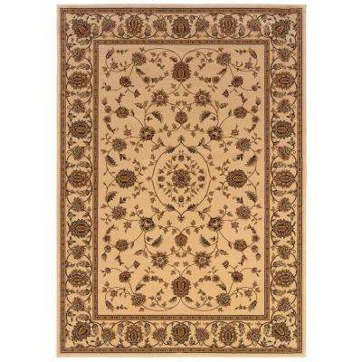 Kurdamir Rockland Ivory 7 ft. 10 in. x 10 ft. 10 in. Area Rug