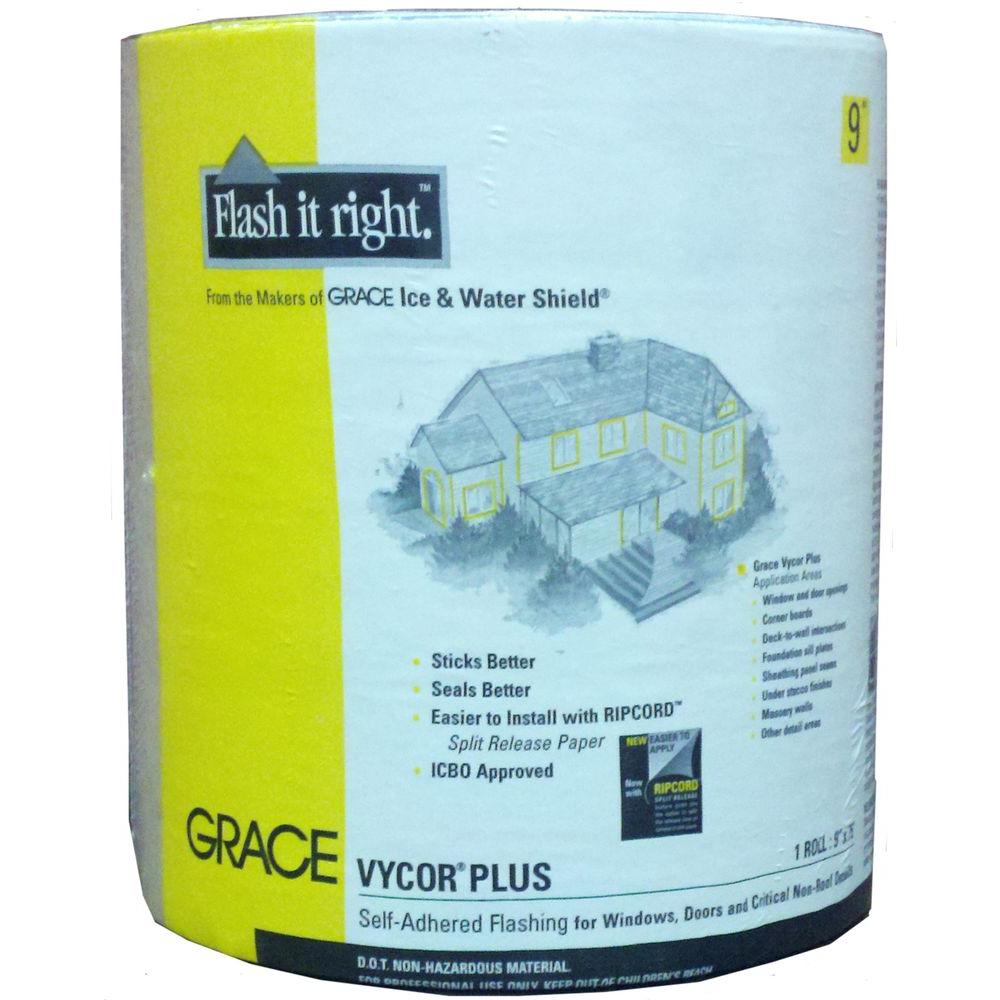 Grace Vycor Plus 9 in. x 75 ft. Roll Fully-Adhered Flashing